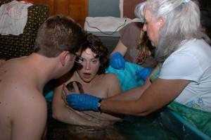 Laura at birth